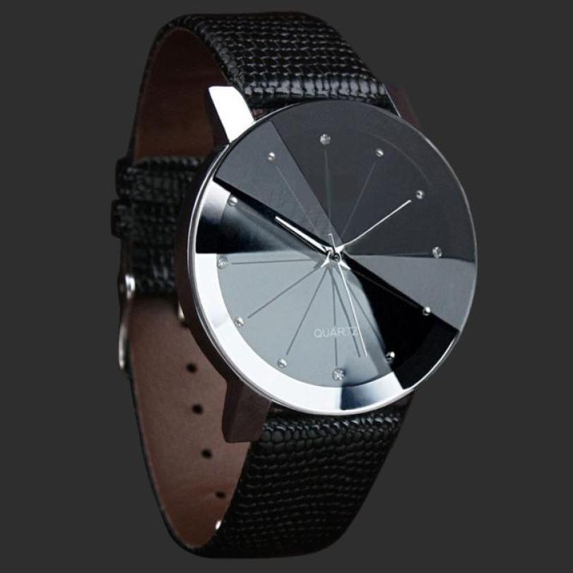 Encontrar Más Relojes casuales Información acerca de Relojes de lujo para hombre  deportes PU correa de cuero cuarzo reloj de pulsera marca nuevo acero ... 8689d89e436e