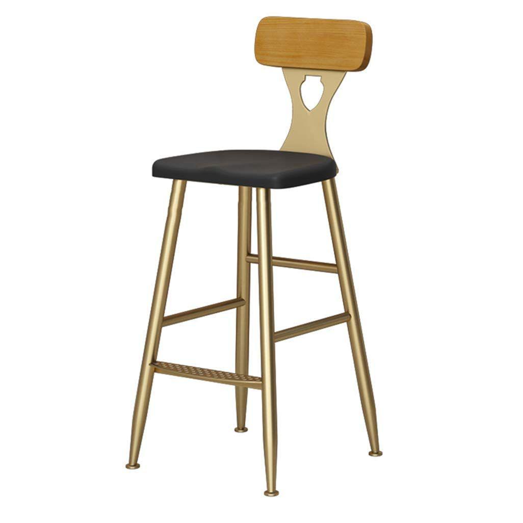 Chuan Han Industrial Bar Chair Backrest With Backrest Ergonomic Chair For Kitchen Restaurant Bar Count Bar Stools Retro Bar Stools Vintage Bar Stools