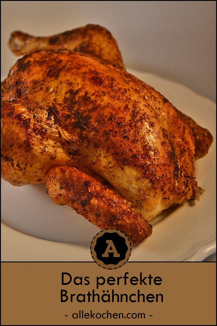 Brathähnchen schnell und einfach aus dem Ofen. Perfekt knusprig und ohne komplizierte Gewürzmischung. #recettepoulet