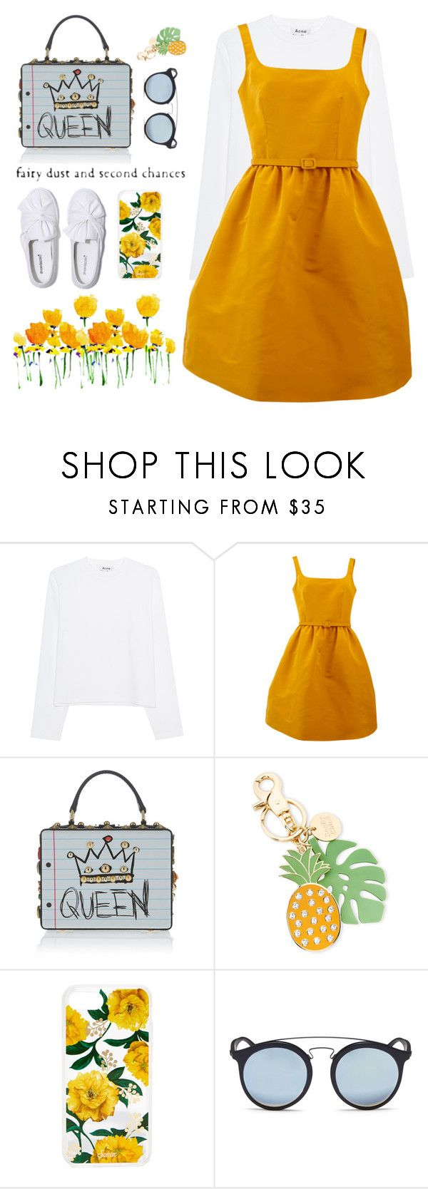 """""""FAIRY DUST"""" by sellyankumala ❤ liked on Polyvore featuring Acne Studios, Oscar de la Renta, See by Chloé, Sonix, Ray-Ban, kawaii, queen and brunchgoals"""