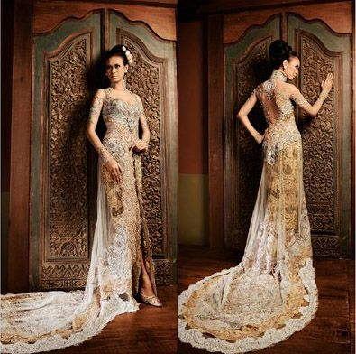 Batik Wedding Dress I Think It Would Be Cool To Represent My Indonesian Culture In