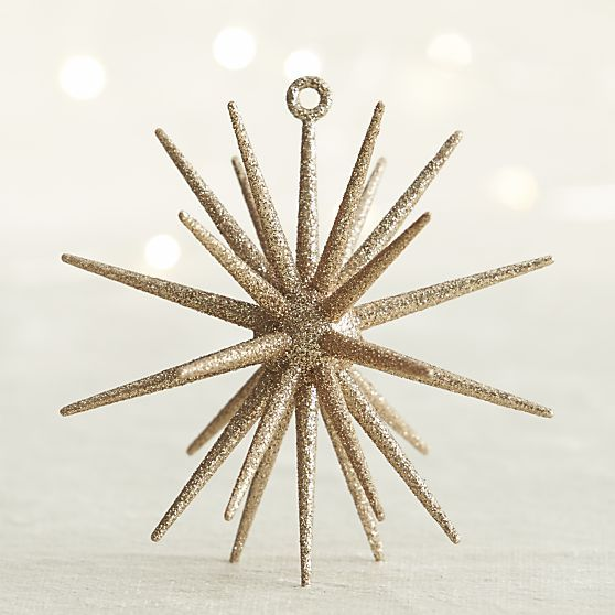 Gold Glitter 3d Star Ornament From Crate And Barrel Star