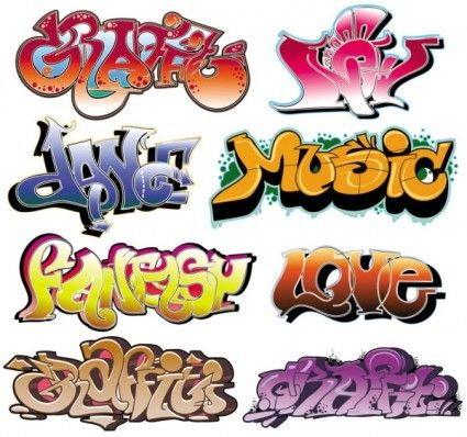 Beautiful graffiti font design 02 vector Free vector in ...