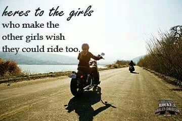 And Some Girls Just Pretend They Ride Girl Motorcycle Women