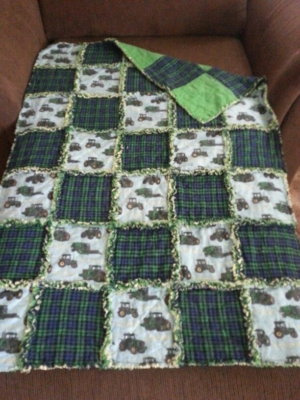 John Deere rag quilt crib size 35x45 for sale on my fb page https ... : rag quilt for sale - Adamdwight.com