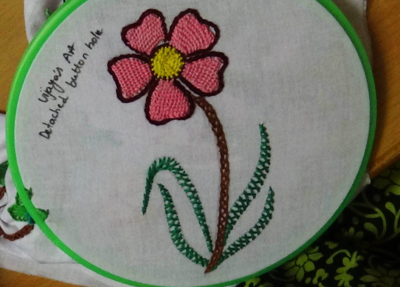 Hand Embroidery Designs 150 Detached On Hole Flower Sch Design