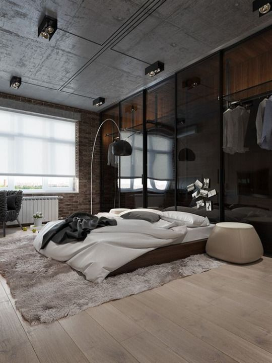 Urban Bedroom Design In Grey With Beautiful Wall Lamp Home Decor Bedroom Bedroom Design Bedroom Interior