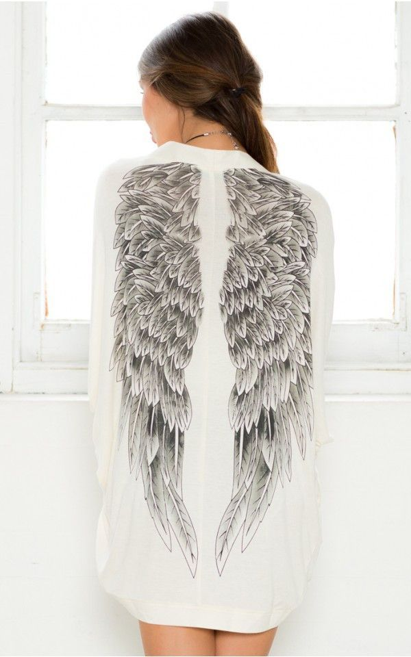 White Angel Wing Back Open Cardigan | Products | Pinterest ...