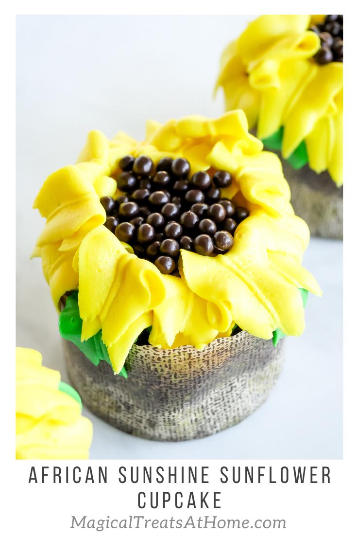 Walt Disney World Inspired African Sunshine Sunflower Cupcake