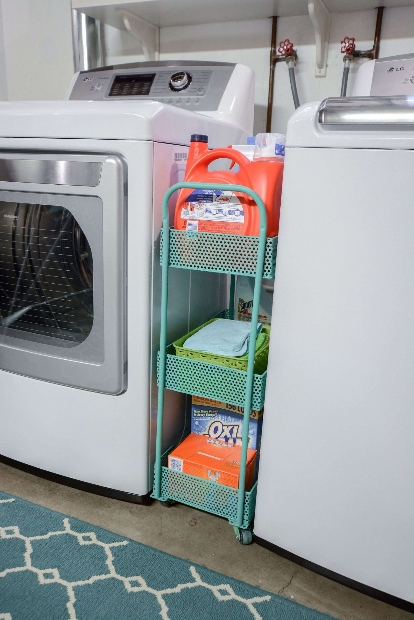 40 Smart Space Saving Ideas To Help You Organize Your Home Attractively Laundry Room Organization Unfinished Basement Laundry Basement Laundry Room