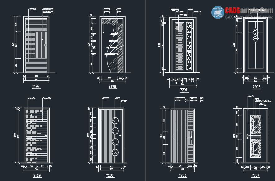 Door Detail Block Autocad Dwg 2 | CADSample COM | Door