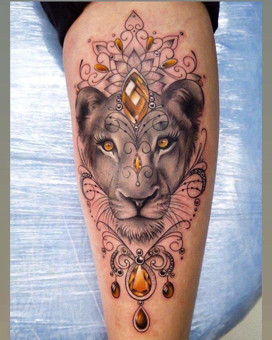 Lioness Gem Tattoo Tattoo Ideas and Inspiration