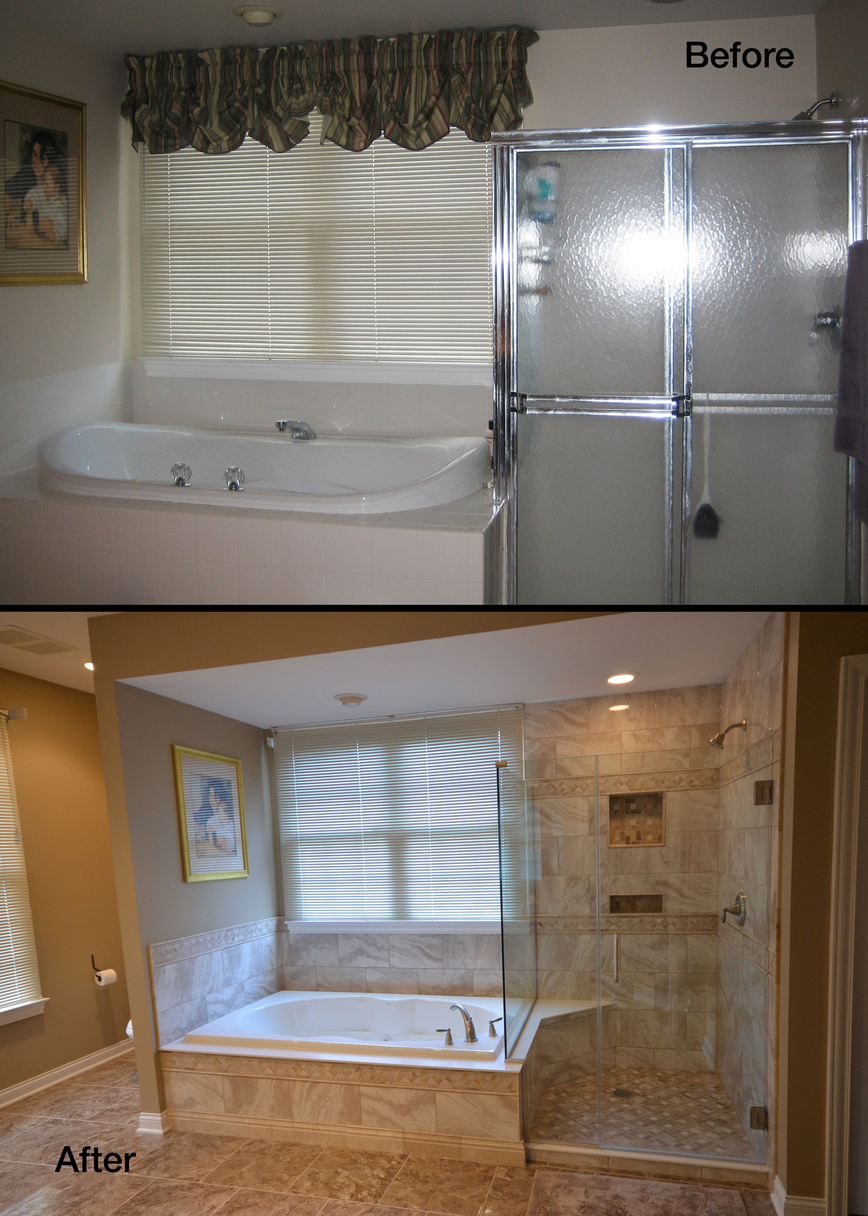 Bathroom Renovation Before And After Pictures Bathroom Remodel Master Bathroom Redesign Bathrooms Remodel