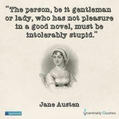 Jane Austen quote on reading.