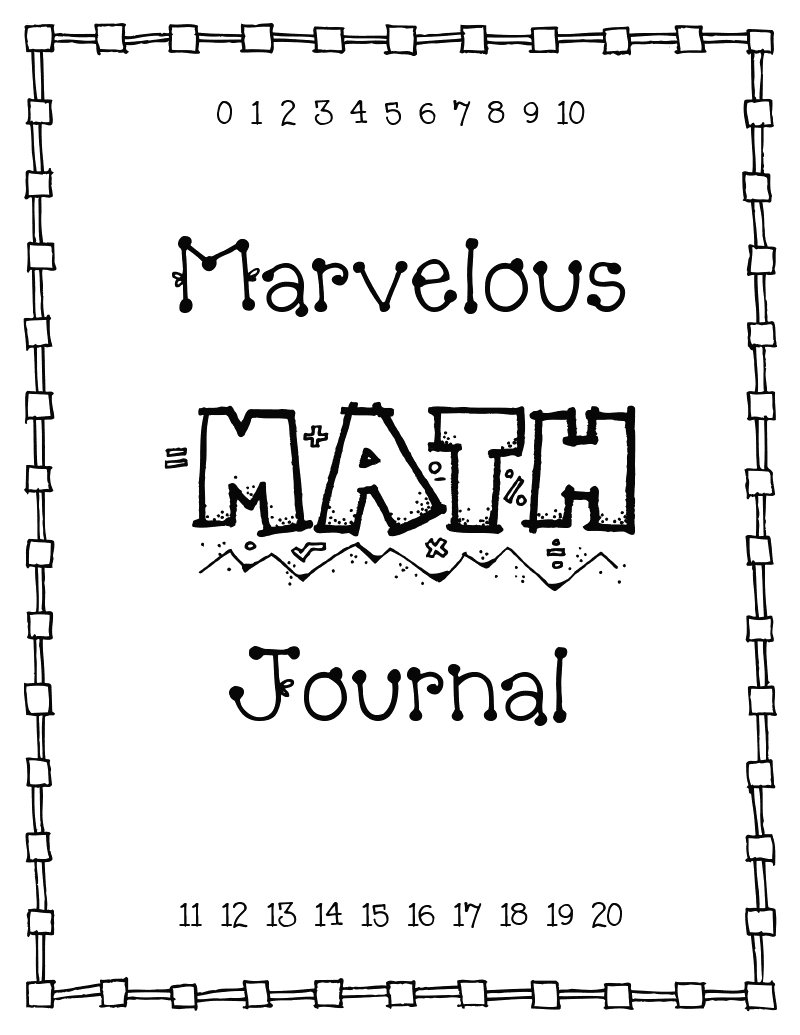 Math Journal Cover Printable | First | Math journal prompts ...