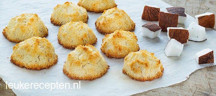 Makkelijk zelf te maken kokosmakronen met honing in plaats van suiker