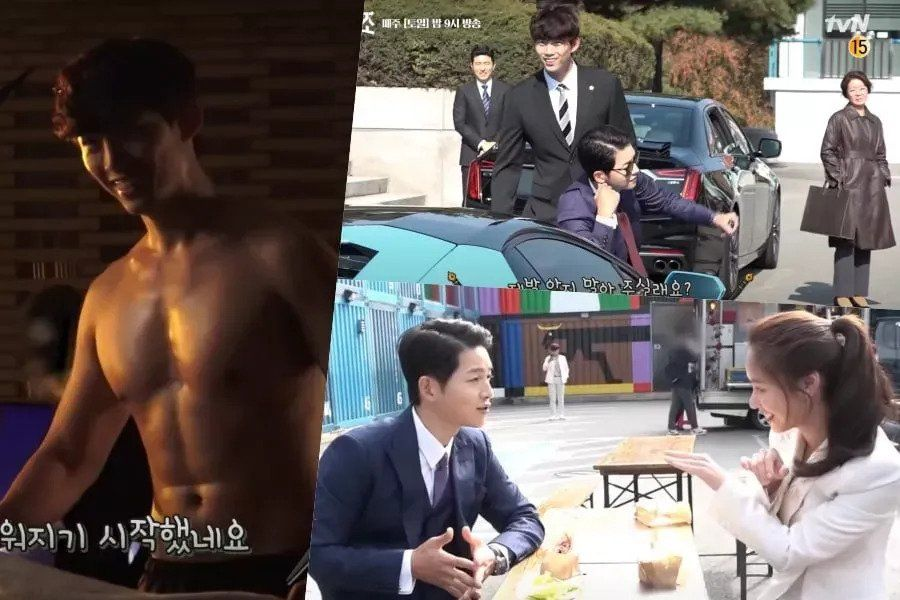 """Watch: 2PM's Taecyeon, Song Joong Ki, And Jeon Yeo Bin Aren't Afraid To Get Excessive On The Set Of """"Vincenzo"""""""