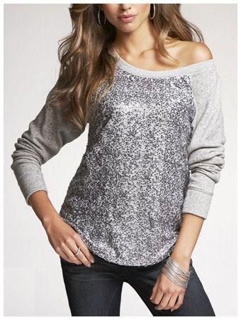 EXPRESS Sequin Raglan Sweatshirt- most recent sweater purchase ...