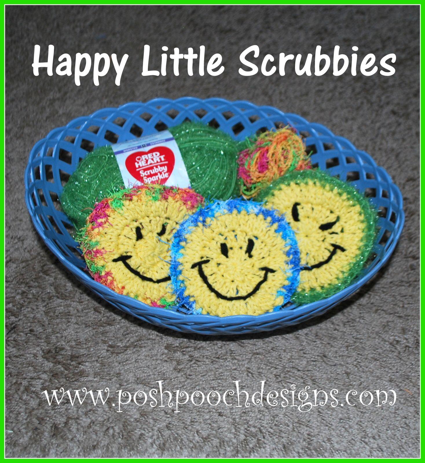 Happy Little Scrubbies Crochet Pattern | Pinterest | Ganchillo ...