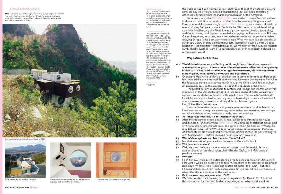Koolhaas/Obrist. Project Japan. Metabolism Talks Japan