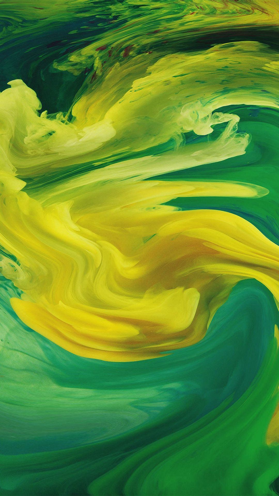 Hurricane Swirl Abstract Art Paint Green Pattern iPhone 8