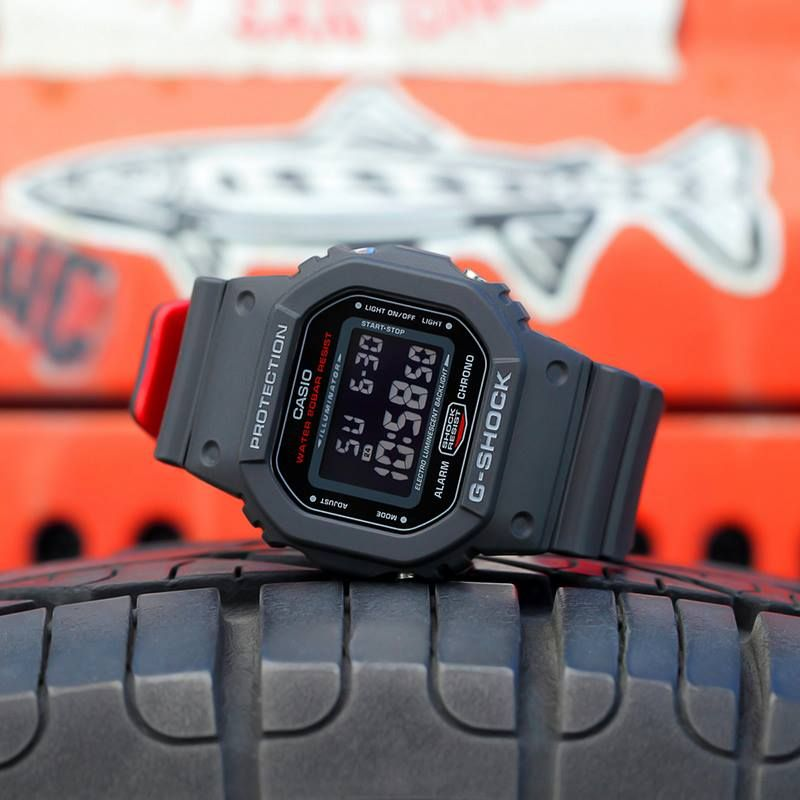 e96040c65cd95 G-Shock s BLACK x RED HERITAGE series takes one of the brand s most popular  models and utilizes bold colors to make it a fashionable addition to any ...