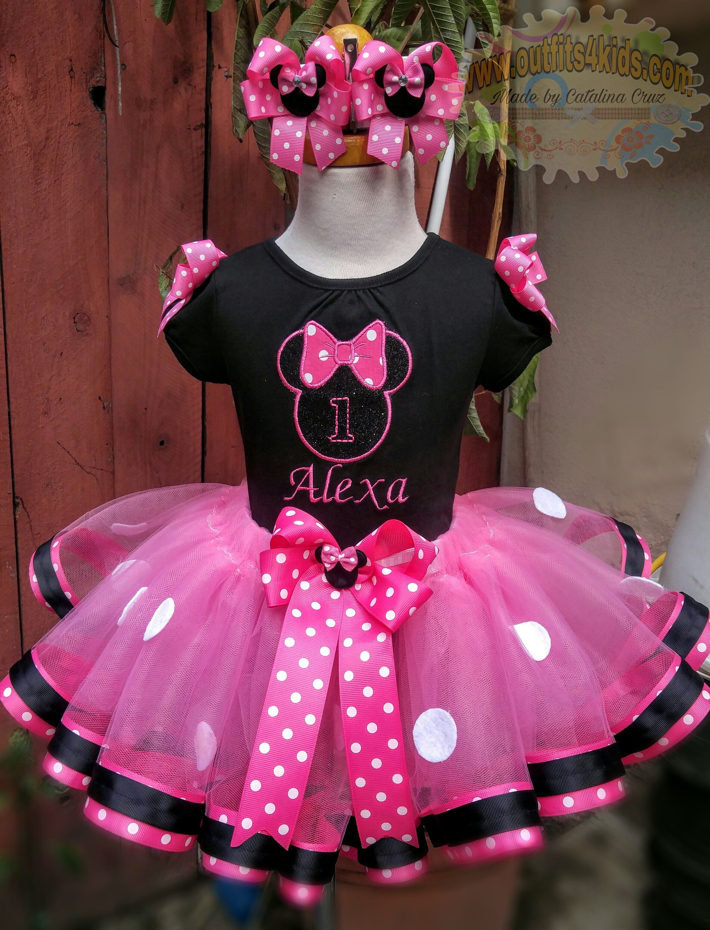 Mini mouse princess outfit first second third fourth fifth birthday