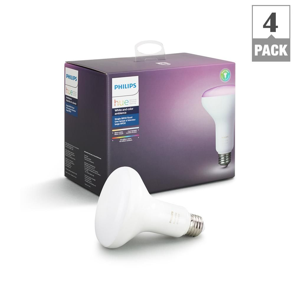 Hue White And Color Ambiance 65 Watt Equivalent Dimmable Br30 Led