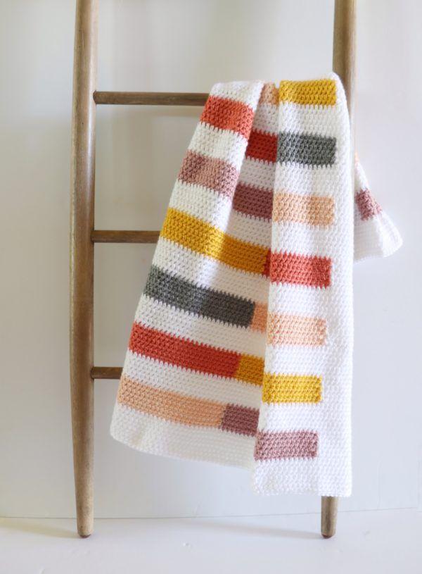 Colorful Half Stripe Blanket #fallseason