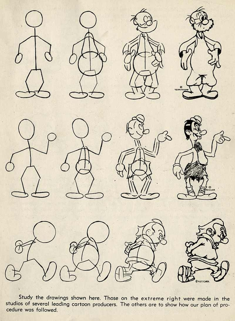 how to draw steamboat willie step by step