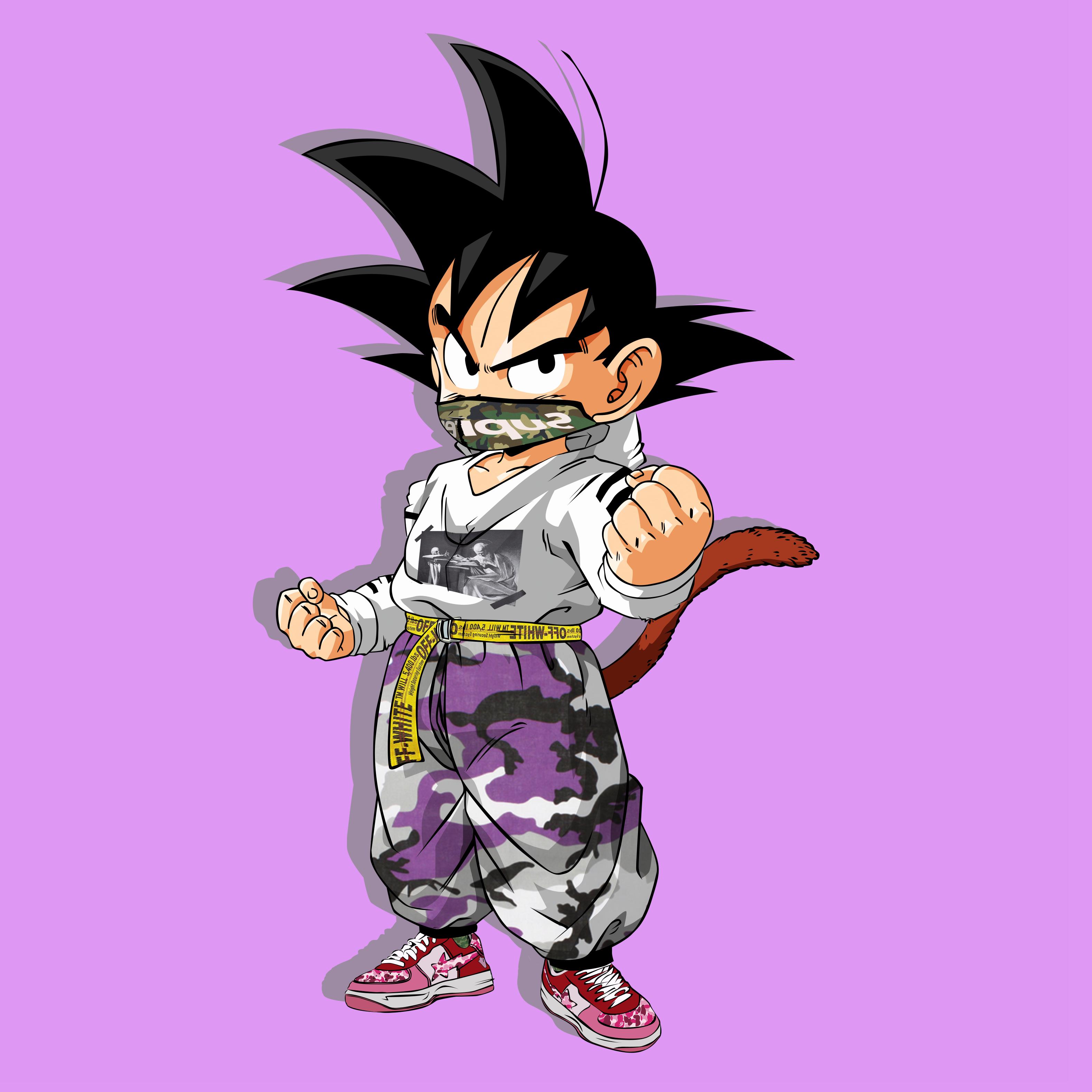 60fb139f HYPEBEAST GOKU | Off-White Bape Supreme | scoper gang | Goku, Dragon ...