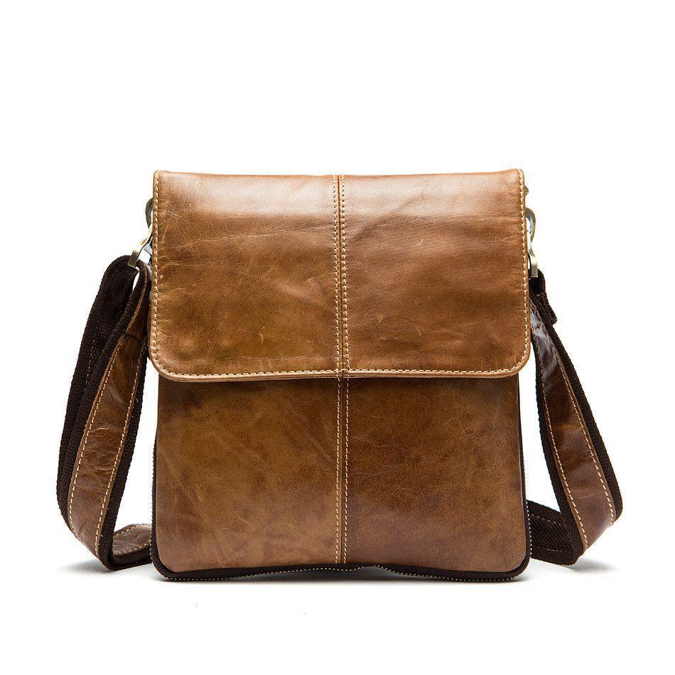 Men messenger bags High quality genuine leather bag Vintage men ...