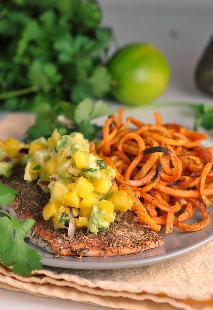 Jamaican Jerk Salmon With Fresh Mango Salsa Whole30 Whole30