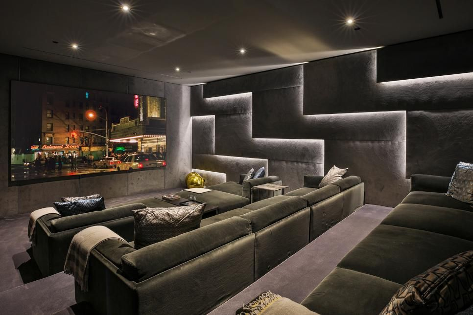 Sleek and Sophisticated Hollywood Hills Home | Home cinema ...