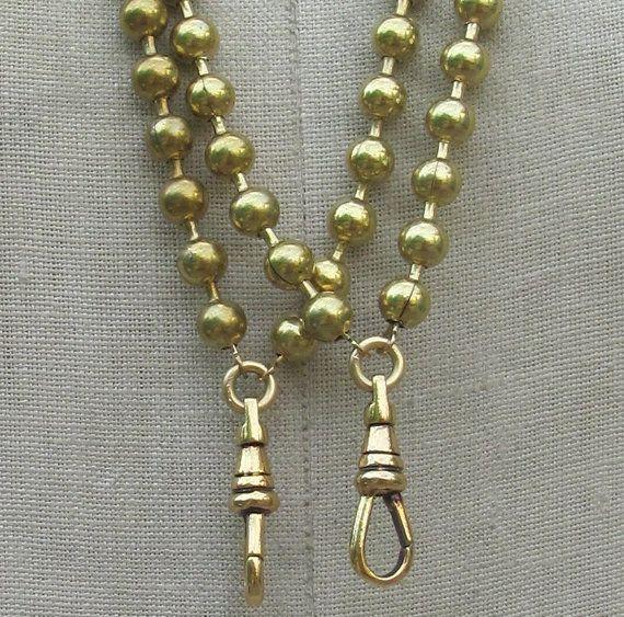 1 Gold Lanyard  Choose short, long *BULK DISCOUNTs* Vintage