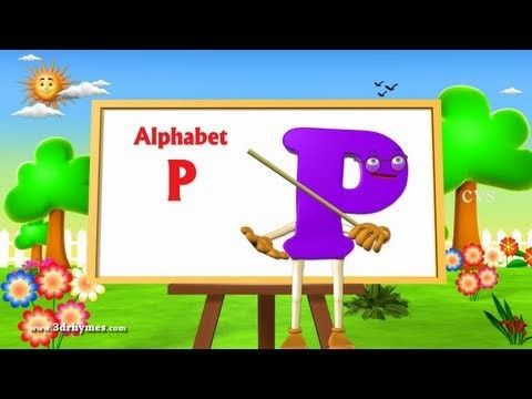 Letter P Song 3D Animation