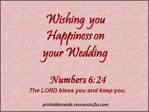 Christian Wedding Wishes With Bible Verse