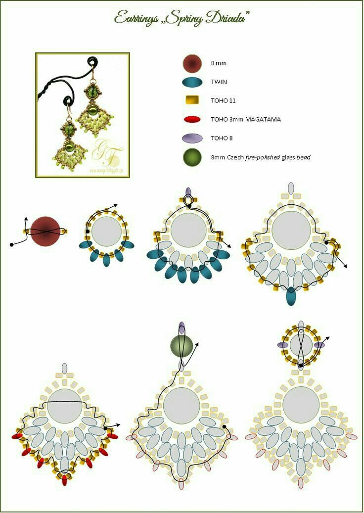 Beaded Earrings Beading Patterns Beaded Jewelry Patterns