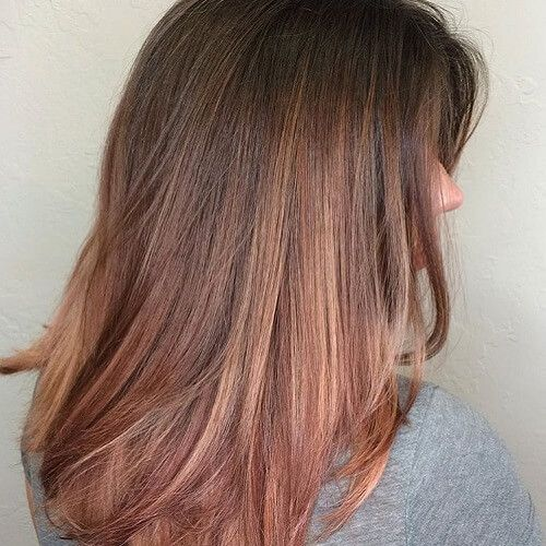 Dark Brown Hair With Strawberry Blonde Highlights Hair Inspiration