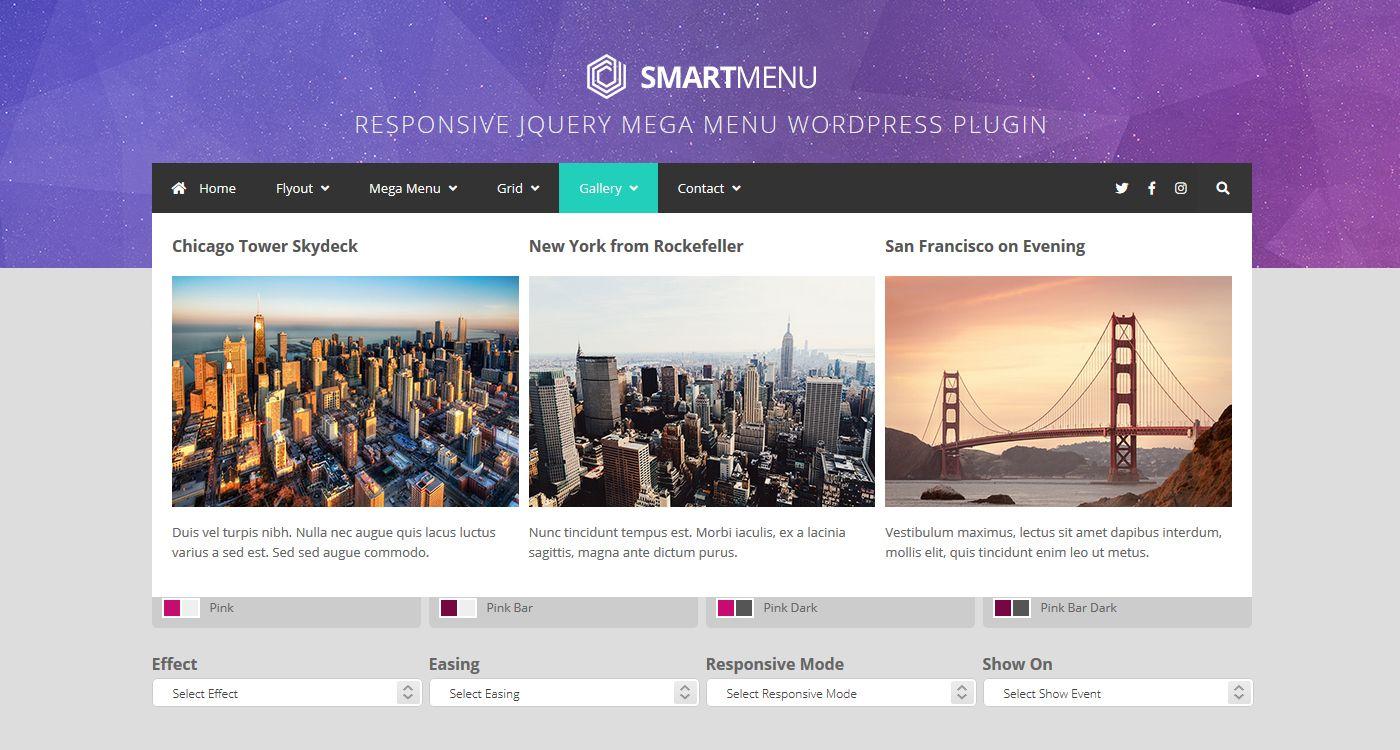 SmartMenu Responsive jQuery Mega Menu WordPress Plugin