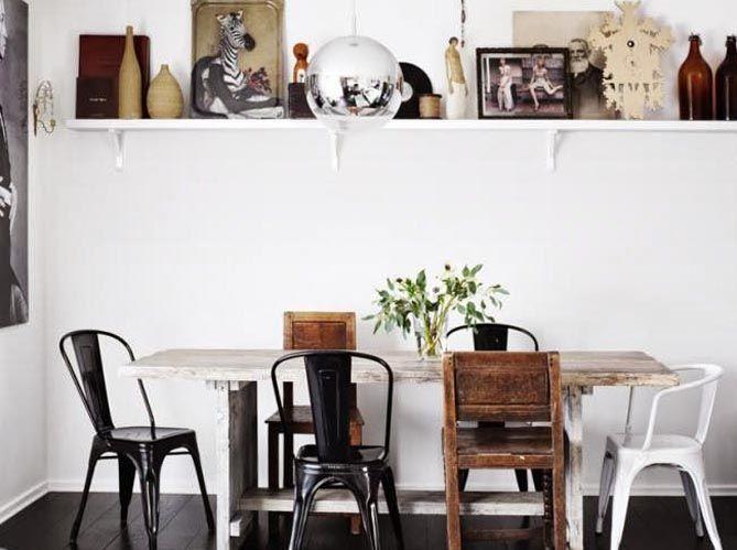Nouveautés Chaises Comment Bien Associer Des Chaises - Table et chaises depareillees pour idees de deco de cuisine
