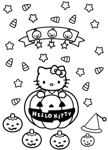 Hello Kitty Halloween Coloring Page Hello Kitty Coloring Kitty Coloring Hello Kitty Halloween