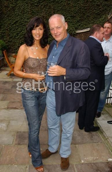 David Gilmour And Wife Polly Samson At Outdoor Party