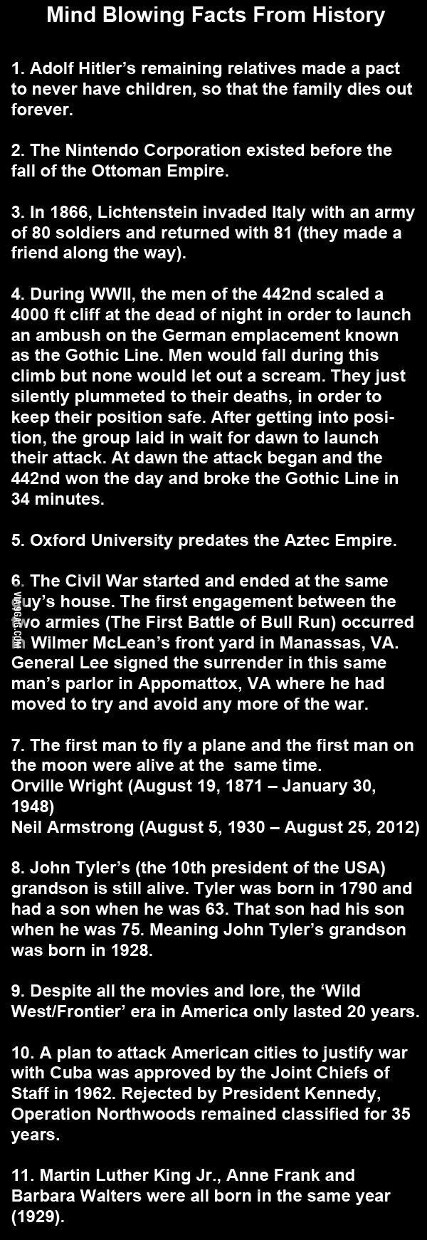 11 Mind Blowing Facts From History! #historyfacts