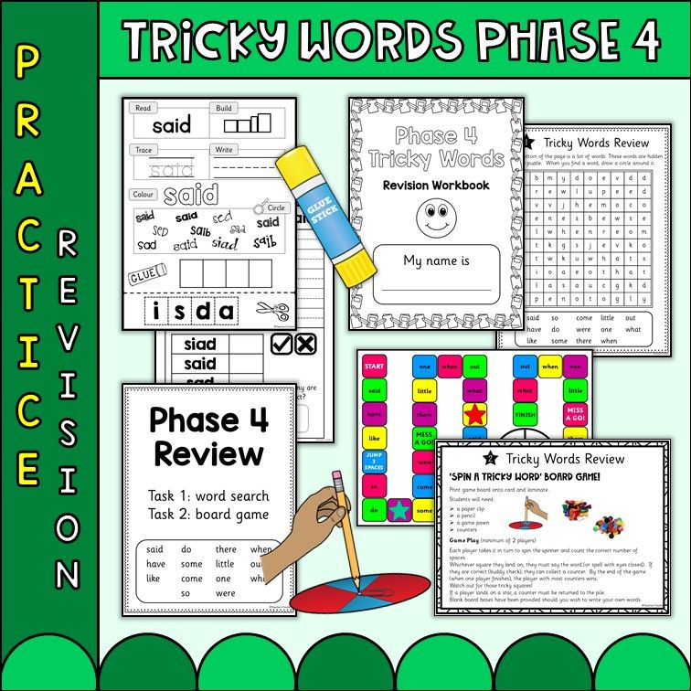 Phonics Phase 4 Tricky Words Practice Worksheets | SEN ...