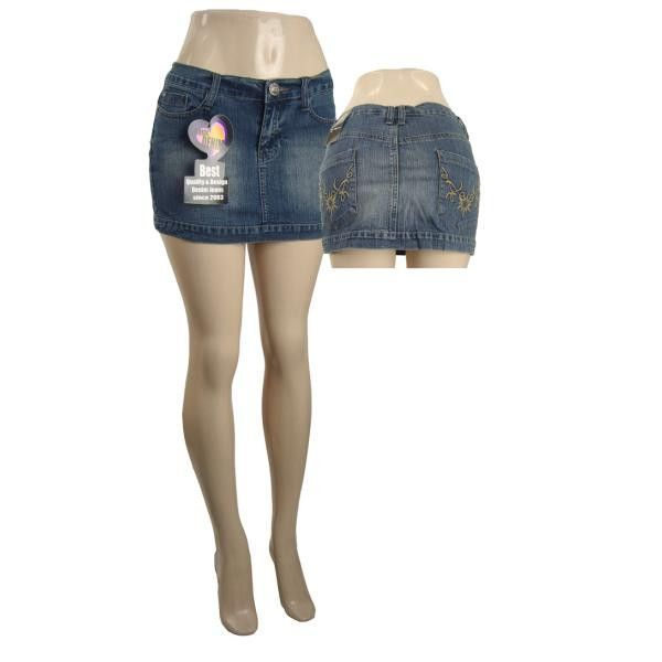 fashion denim jeans mini skirt Case of 12