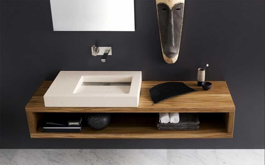 Neutra Waschbecken waschtisch modern holz mit keramik waschbecken und inklusive offene
