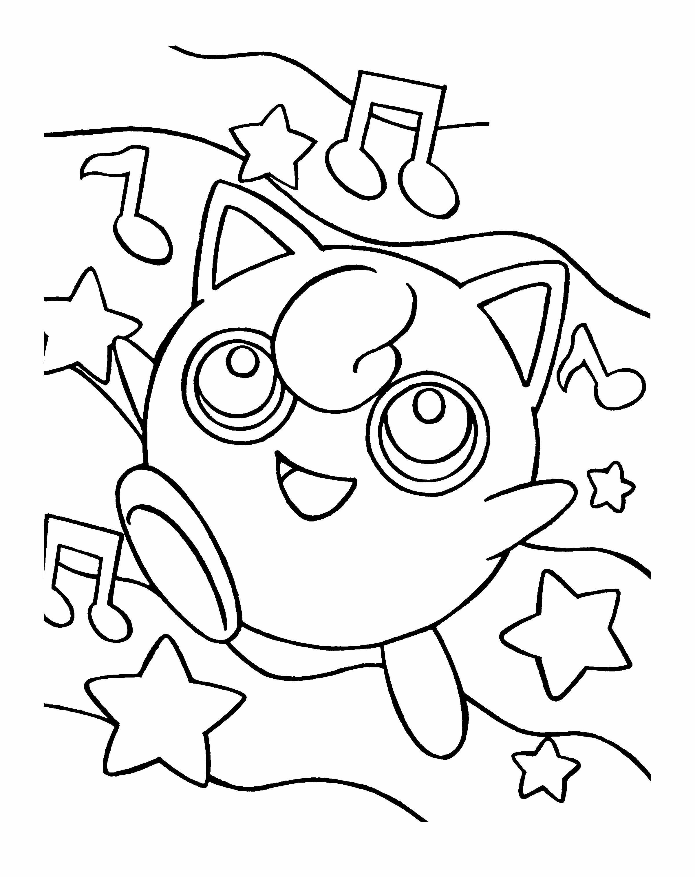 Small Pokemon Unleashed The Power Of Singing Coloring Page