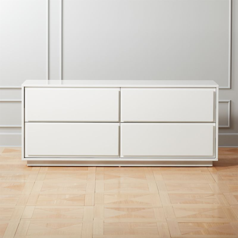 Gallery White 4 Drawer Low Dresser Reviews Low Dresser Modern Dresser Modern Storage Cabinet