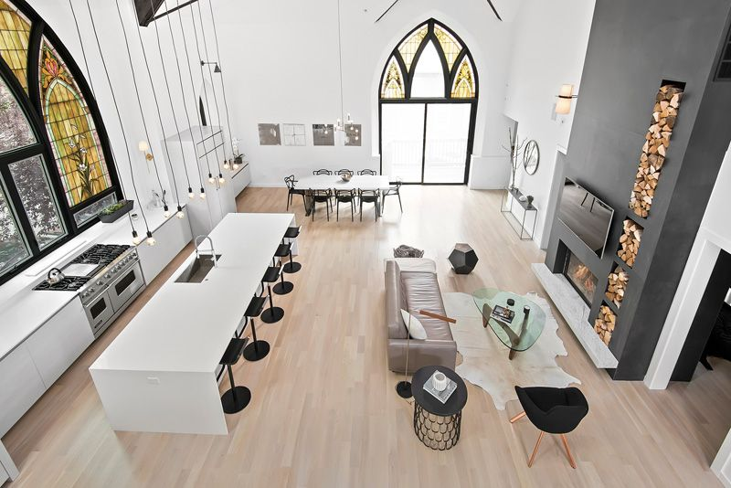 Chicago church conversion to a modern contemporary residence
